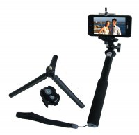 ZUMA Selfie Stick Kit with Removable Bluetooth, Adapter f/GoPro